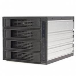 Product information StarTech 4 Drive 3.5in Trayless Hot Swap SATA Mobile Rack Backplane Storage drive cage (Black)