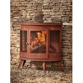 Product information NEW Rusty Outdoor Woodburner - Rounded