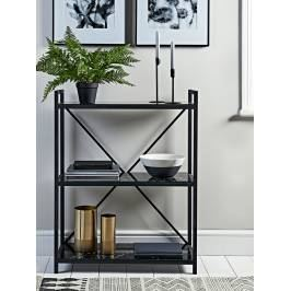 Product information Marble Effect Glass Shelf Unit