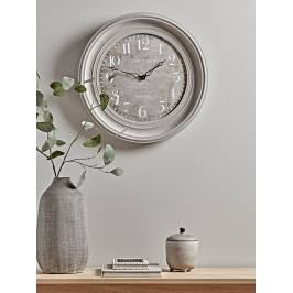 Product information NEW Grey Distressed Wooden Clock