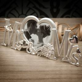 Product information Mr & Mrs Heart Shaped Photo Frame