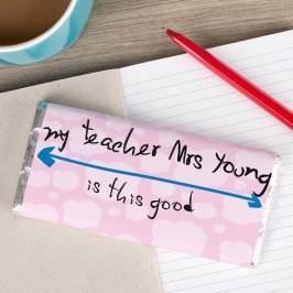 Product information Personalised Chocolate Bar - My Teacher Is This Good