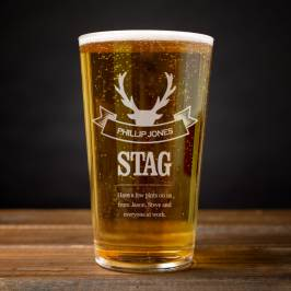 Product information Personalised Pint Glass - The Stag