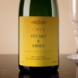 Product information Personalised Cava - Gold Anniversary