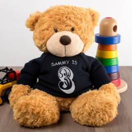 Product information Personalised Bonnie Bear With Navy Jumper