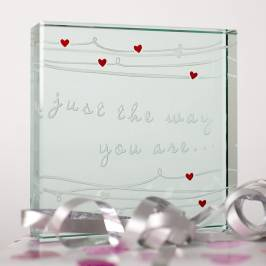 Product information Spaceform Medium Paperweight - 'Just The Way You Are'