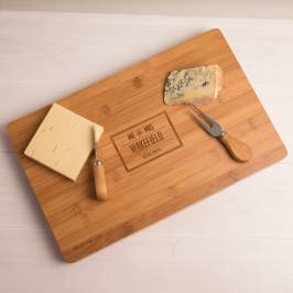 Product information Personalised Large Rectangular Wooden Cheese Board - Mr & Mrs
