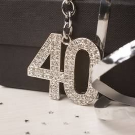 Product information Crystal Keyring - 40th Birthday