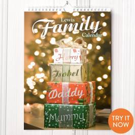 Product information Personalised Our Family Calendar - 5th Edition