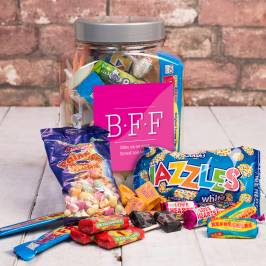 Product information Personalised Retro Sweet Jar - BFF