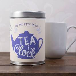 Product information Personalised Tea Tin - Pop The Kettle On
