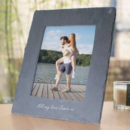 Product information Personalised Large Slate Photo Frame