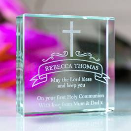 Product information Personalised Glass Token - Holy Communion