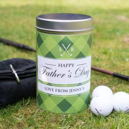 Product information Golf Gift Set In Personalised Tin - Happy Father's Day