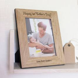 Product information Engraved Wooden Photo Frame - 1st Father's Day