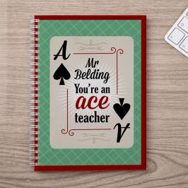 Product information Personalised Notebook - You're An Ace Teacher