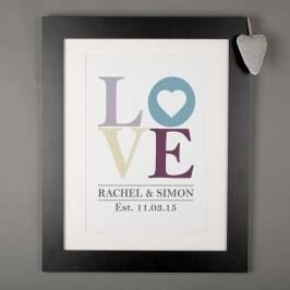 Product information Personalised Print - LOVE