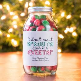 Product information Personalised Jar Of Rosy Apple Sweets - Sprouts!