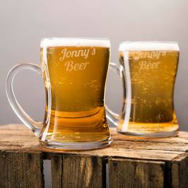 Product information Personalised Set Of 2 Beer Mugs