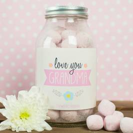 Product information Personalised Jar Of Strawberry Bonbons - Love You