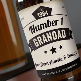 Product information Personalised Beer - Number 1 Grandad