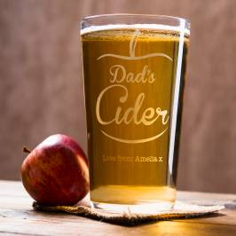 Product information Personalised Pint Glass - Dad's Cider