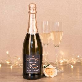 Product information Personalised Prosecco - On Our First Anniversary