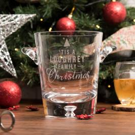 Product information Personalised Ice Bucket - Family Christmas