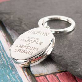 Product information Engraved Photo Key Ring - Amazing Things