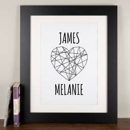 Product information Personalised Print - Geometric Heart