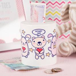 Product information Personalised Ceramic Money Box - Bunny & Bears