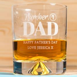 Product information Personalised Whisky Tumbler - Number 1 Dad