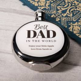 Product information Engraved Round Hip Flask - Best Dad