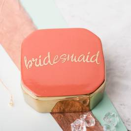 Product information Love Is In The Air Bridesmaid Trinket Box