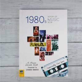 Product information Personalised 1980s History Of Music Book