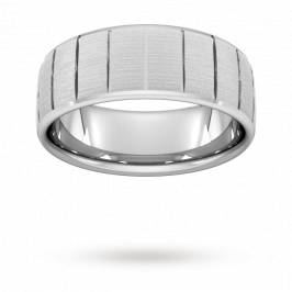 Product information 8mm Slight Court Extra Heavy vertical lines Wedding Ring ...